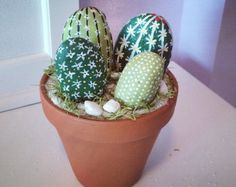 Cactus piedras pintadas arte rupestre tazón de por Customizedboxes