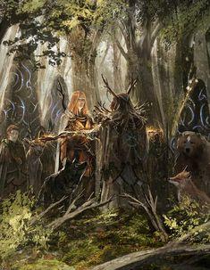 Chroniques oubliees - Druids meeting by BGK-Bengiskhan.deviantart.com on @DeviantArt
