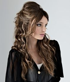 Long Half Updo Hairstyle