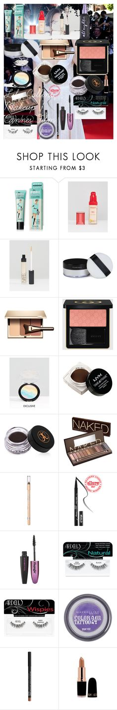 Lily Collins Makeup | Cannes Film Festival | by oroartye-1 on Polyvore featuring beauty, Urban Decay, Clarins, Gucci, Illamasqua, NARS Cosmetics, Bourjois, Kat Von D, Anastasia Beverly Hills and Maybelline