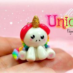 Mini Unicorn Kawaii Charm Polymer Clay Handmade Jewelry by Sweet Clay Creations Trending Craft Ideas Diy Fimo, Diy Clay, Cute Crafts, Diy And Crafts, Crafts For Kids, Kawaii Crafts, Polymer Clay Kawaii, Polymer Clay Charms, Polymer Clay Miniatures