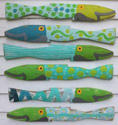 Summerland Fence Fish S/6: Beach Decor, Coastal Decor, Nautical Decor, Tropical Decor, Luxury Beach Cottage Decor