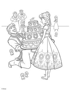 Frozens Anna Coloring Page
