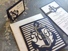 Laser Cut Wedding Invitations Nautical Themed by CelineDesigns