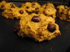 Easy Pumpkin Chocolate Chip Cookies from Food.com:   								Three ingredient recipe for great cookies! The recipe has been passed around my neighborhood and everyone loves how simple it is.