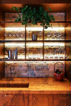 New Back Bar Mirror with Shelves