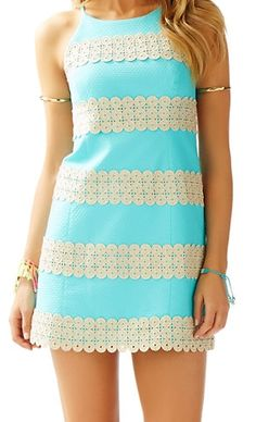 Lilly Pulitzer Annabelle Shift Dress in Shorely Blue Stripe