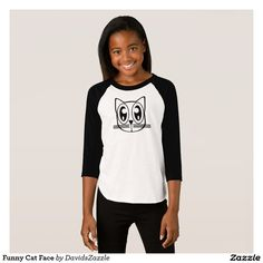 Funny Cat Face Girl's Tee Available on many products! Hit the 'available on' tab near the product description to see them all! Thanks for looking!  @zazzle #art #cute #cartoon #funny #cat #cute #pet #friend #family #drawing #digital #black #sweet #nice #friend #women #men #kids #clothes #fashion #style #apparel #tee #tshirt #hoody #sweatshirt #shop #gift #idea #shopping #buy #sale