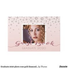 Shop Graduate 2020 photo rose gold diamonds pink glam guest book created by Thunes. Photo Gold, 18th Birthday Party, Rose Gold Color, Party Photos, Colored Diamonds, Special Day, Graduation, Just For You, Book