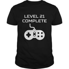 Level 21 Complete Video Games 21st Birthday =>   								This Level 21 Complete Video Games 21st Birthday design is the perfect birthday gift idea for gamers.  								  								  								  		  			5.3 oz., pre-shrunk 100% cotton  			Dark Heather is 50/50 cotton/polyester  			Sport Grey is 90/10 cotton/polyester  			Double-needle stitched neckline, bottom hem and sleeves  			Quarter-turned  			Seven-eighths inch seamless collar  			Shoulder-to-shoulder taping