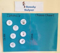 DIY Chore chart for 4 year old