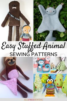 25+ Easy Stuffed Animal Patterns   Easy stuffed animal patterns are some of the quirkiest and some of the quickest sewing projects for beginners out there because they are usually small and simple. Animal Sewing Patterns, Stuffed Animal Patterns, Sewing Toys, Sewing Projects For Beginners, Sewing For Kids, Animal Design, Diy Gifts, Little Ones, Cute Animals