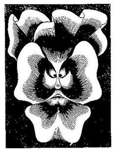 "Skot Foreman Gallery M.C. Escher ""Flor de Pascua - La Pensee"" 1921 Woodcut 4 3/4 x 3 1/2 in 13 x 10 cm Bool 75 © The M.C. Escher Company B.V."