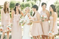 Rustic Chic Wedding - Pale Pink Bridesmaid Dress