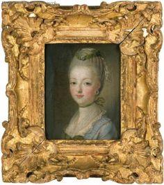 A portrait of Marie Antoinette, circa 1770, from the workshop of François-Hubert Drouais.