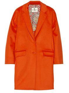 Etro orange wool coat