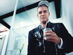George Clooney in the shower @ The Bathroom, NYC.