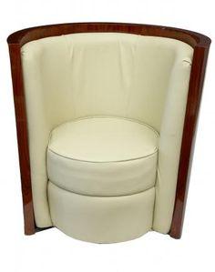 Pair Art Deco Tub Arm Chairs Seats