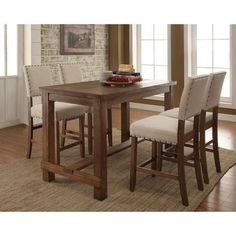 Furniture of America Telara Contemporary Natural Counter Height Table