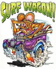 Rat fink Surf Wagon