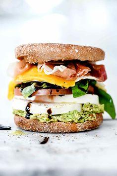 Healthy Caprese Breakfast Sandwiches Foodiecrush – All Recipes Healthy Sandwich Recipes, Healthy Sandwiches, Healthy Breakfast Recipes, Brunch Recipes, Dinner Recipes, Breakfast Sandwiches, Dinner Ideas, Breakfast Quesadilla, Gourmet Sandwiches