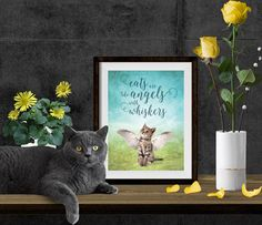 Cat Print   Cat Quote   Cat Printable   Printable Art   8x10   Cats Angel   Cat Lover Gift   Digital Quote   Wall Art Print   Quote Print by SmudgeCreativeDesign on Etsy https://www.etsy.com/listing/217020259/cat-print-cat-quote-cat-printable