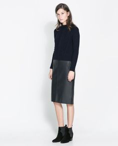 ZARA - NEW THIS WEEK - RIBBED CABLE KNIT SWEATER