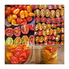 Kuchařka ze Svatojánu: NALOŽENÁ RAJČATA S ČESNEKEM A TYMIÁNEM Kimchi, Bruschetta, Slow Cooker, Vegetables, Skillet, Freezer, Food, Party, Chest Freezer