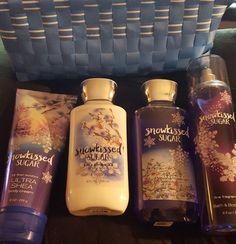 """Bath & Body Works""""Snowkissed Sugar""""Shower Gel,Lotion,Fragrance Mist & Body Cream #BathBodyWorks"""