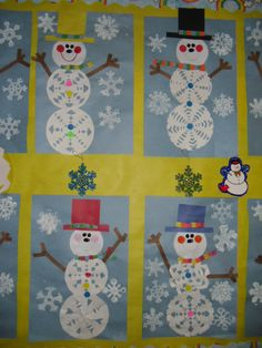 PATTIES CLASSROOM: Winter Acrostic Poems and Snowflake Snowman Art