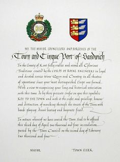 Calligraphy studio - Calligraphic services in Kent [Gallery page]