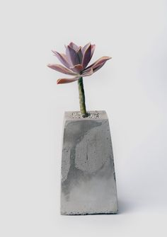 Concrete Planter Urban Industrial Gray Pot Modern от Sidereal2017