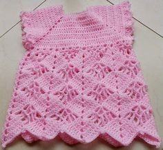 Crochet Guide: Cute in Pink Baby Dress