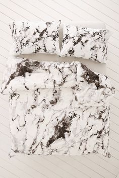 Marble Print Duvet Set