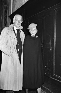 Audrey Hepburn and Hubert de Givenchy photographed by Bertrand Rindoff Petroff after enjoying an evening at Maxim's in Paris, France, March 12, 1979.