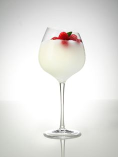 Raspberry Le Flor...1½ oz. Svedka Raspberry Vodka  ½ oz. elderflower liqueur  ½ oz. lemon juice  ½ oz. simple syrup  ¼ oz. water  Garnish: mint sprigs and raspberries