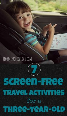 7 screen-free activities for a preschooler. Great for road trips and airplanes