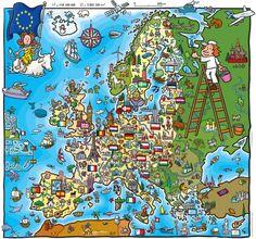 Super Kinder-Landkarte von Europa