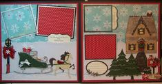 Christmas layout using lots of Cricut cuts. I love Lisa's Cricut Layouts. She does some of the best work I have ever seen.