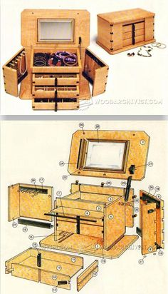 Jewelry Box Plans - Woodworking Plans and Projects  | WoodArchivist.com #WoodworkingPlans