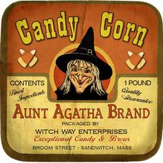 Vintage Halloween Candle 'Candy Corn'