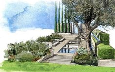 A selection of garden designs that will be created at Chelsea Flower Show in   2012.