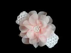 Baby Girl Headband  Flower Flower baby girl clothes by LilMamas, $8.50