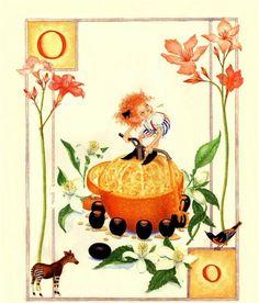 O... Orange... by Lauren Mills Elfabet