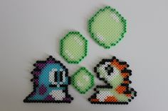Bubble Bobble Glow In The Dark Perler Bead Sprite par LinlyBits