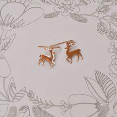 Pink deer | Billy Rose | Oorbellen