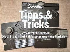 Stampin Up - Falzbretter - Envelope Punchboard - Stanz- und Falzbrett für Umschläge - Gift Box - Stanz- und Falzbrett für Geschenkeboxen - Gift Bag Board - Stanz- und Falzbrett für Geschenktüten- Anleitungen - Tutorial - Sonntag: Tipps & Tricks - Tipps und Tricks♥ StempelnmitLiebe