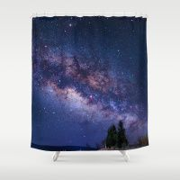 UP ABOVE THE SKY Shower Curtain