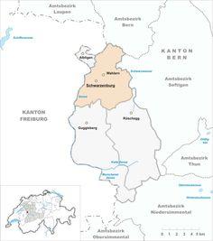 Map of Wahlern Switzerland Municipality 2007