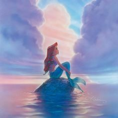 """Ariel"" Limited Edition Giclee on Canvas by John Alvin (1948-2008) from Disney Fine Art featuring classic The Little Mermaid imagery. This piece comes numbered and is hand signed by the artist. It is accompanied by a Certificate of Authenticity from Disney Fine Art. Item measures approx 16"" x 24"" (image)."